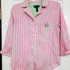 Ralph Lauren Striped Pajama Top
